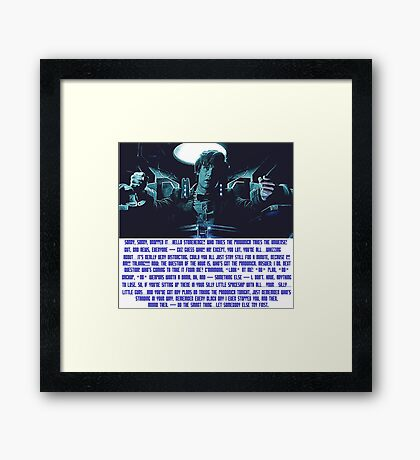 Doctor Who Pandorica Opens (Speech) Framed Print
