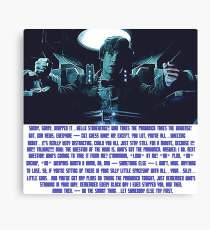 Doctor Who Pandorica Opens (Speech) Canvas Print
