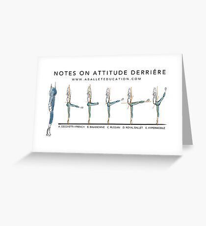 Notes on Attitude Back Greeting Card
