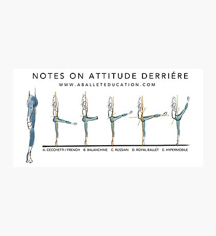 Notes on Attitude Back Photographic Print
