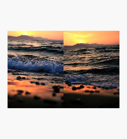 Evening Waves - Nature Photography Photographic Print