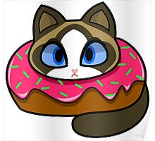Ragdoll Donut Cat Poster