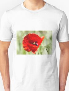 poppies in the field Unisex T-Shirt