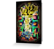 similar stained glass view Greeting Card