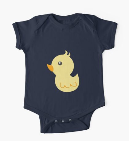 Yellow rubber ducks illustration One Piece - Short Sleeve