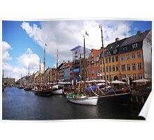 Boats at Nyhavn, København Poster