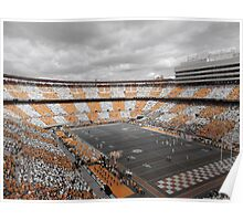 Bleed Orange and White (Large Poster) Poster