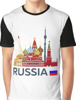 Russia, Moscow skyline. Kremlin Graphic T-Shirt