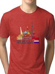 Russia, Moscow skyline. Kremlin Tri-blend T-Shirt