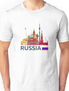 Russia, Moscow skyline. Kremlin Unisex T-Shirt