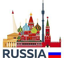 Russia, Moscow skyline. Kremlin Photographic Print