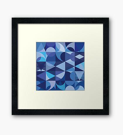 BLUE SHAPES Framed Print