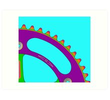 Psychedeli-Cat Chainring Art Print