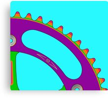 Psychedeli-Cat Chainring Canvas Print