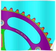 Psychedeli-Cat Chainring Poster