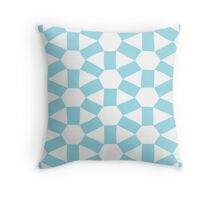 Atome: motif turquoise Throw Pillow