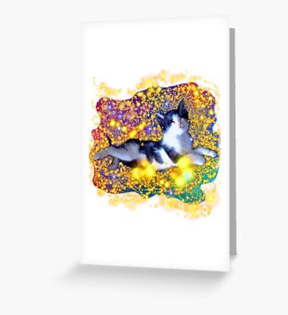 Space Kitten Greeting Card