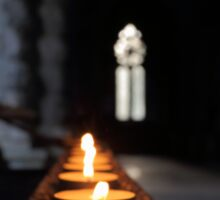 St Conans Kirk - Prayers Candles (interior) Sticker