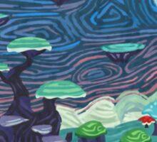 Glitch furniture largewalldeco uralia post impressionism painting Sticker