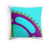Psychedeli-Cat Chainring Throw Pillow