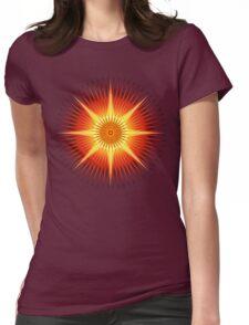 Sun Urchin Mandala Womens Fitted T-Shirt