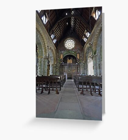 St Conans Kirk (nterior) Greeting Card