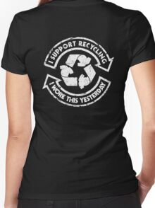 I support recycling Women's Fitted V-Neck T-Shirt