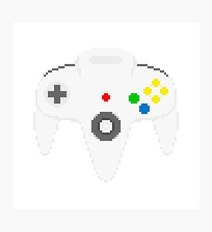 Nintendo 64 controller in pixelart Photographic Print