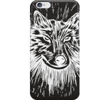 Lino Wolf (white) iPhone Case/Skin