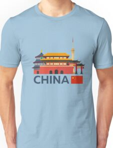 China, Beijing skyline Unisex T-Shirt