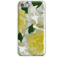 Yellow and White Roses iPhone Case/Skin
