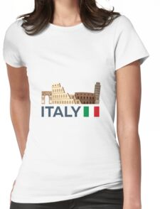 Italy, Rome skyline Womens Fitted T-Shirt