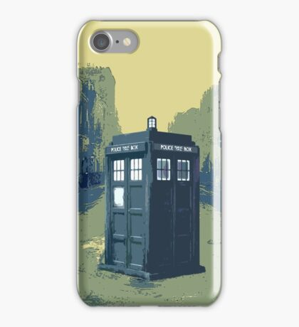 Tardis in the old town iPhone Case/Skin