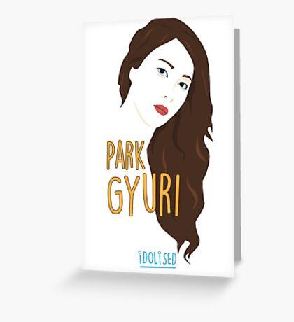 KARA Gyuri Greeting Card
