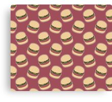 Hamburger Brown Pattern Canvas Print