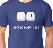Keys To Happiness Funny Graphic Tee For Programmers or Computer Geeks and Nerds Unisex T-Shirt