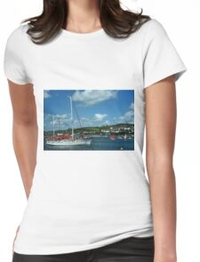 RIVER TEIGN ESTUARY, TEIGNMOUTH, DEVON.  Womens Fitted T-Shirt