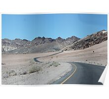 Winding through Death Valley Poster