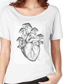 Mushroom Heart Women's Relaxed Fit T-Shirt