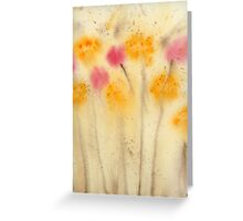 Yellow and Pink Flowers Abstract  Watercolor Print Painting Fine Art Print from Watercolor Painting Abstract Painting Art Watercolor Wall Art Greeting Card