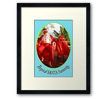 Tropical Santa Framed Print
