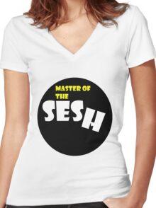 Sesh Master Women's Fitted V-Neck T-Shirt