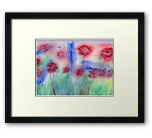 Red Flowers Abstract Original Watercolor Painting Art Print from Watercolor Painting Flowers Art Print Watercolor Wall Art Framed Print