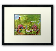 Washing Day Hobbiton/Roses For Rosie. Framed Print