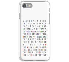 Sherlock - All episodes - MiniGame iPhone Case/Skin