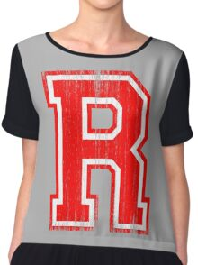 Big Red Letter R Chiffon Top