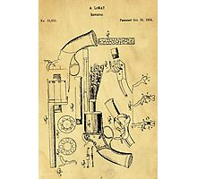 Revolver Support Patent Drawing From 1856  Photographic Print
