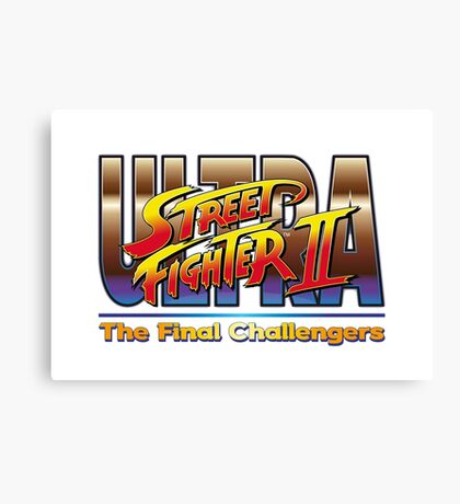 Ultra Street Fighter 2 The Final Challengers Canvas Print