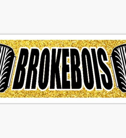 BrokeBois Slap Sticker - Gold Sticker