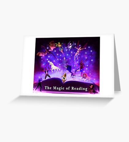 The magic of readin Greeting Card